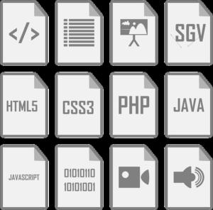 icones developpement web